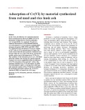 Adsorption of Cr(VI) by material synthesized from red mud and rice husk ash