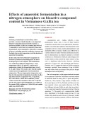 Effects of anaerobic fermentation in a nitrogen atmosphere on bioactive compound content in Vietnamese GABA tea