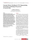 Gaussian Mixture Modeling for Wi-Fi fingerprinting based indoor positioning in the presence of censored data