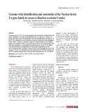 Genome-wide identification and annotation of the Nuclear-factor YA gene family in cassava (Manihot esculenta Crantz)