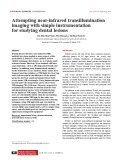 Attempting near-infrared transillumination imaging with simple instrumentation for studying dental lesions