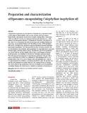 Preparation and characterization of liposomes encapsulating Calophyllum inophyllum oil