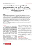Assessment of hydro-climatological drought conditions for Hong-Thai Binh river watershed in Vietnam using high-resolution model simulation
