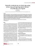 Tính chất và niên đại của các di tích công xưởng chế tác công cụ đá giai đoạn hậu kỳ Đá mới - sơ kỳ Kim khí ở Tây Nguyên