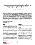 Định hướng khảo luận tầm nguyên hệ thống yếu tố Hán Việt bằng phương pháp nghiên cứu lịch sử - so sánh
