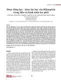 Dược động học - dược lực học của Rifampicin trong điều trị bệnh nhân lao phổi