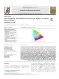 Optical properties and colorimetry of gelatine gels prepared in different saline solutions