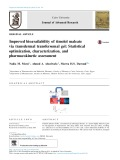 Improved bioavailability of timolol maleate via transdermal transfersomal gel: Statistical optimization, characterization, and pharmacokinetic assessment