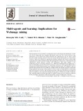 Multi-agents and learning: Implications for Webusage mining
