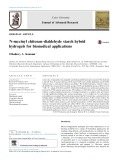 N-succinyl chitosan–dialdehyde starch hybrid hydrogels for biomedical applications