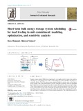 Short-term bulk energy storage system scheduling for load leveling in unit commitment: modeling, optimization, and sensitivity analysis
