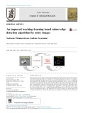 An improved teaching–learning based robust edge detection algorithm for noisy images