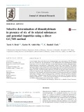 Selective determination of dimenhydrinate in presence of six of its related substances and potential impurities using a direct GC/MS method