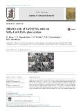 Effective role of CaO/P2O5 ratio on SiO2-CaO-P2O5 glass system