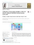 Fabrication of electrospun nanofibres of BCS II drug for enhanced dissolution and permeation across skin
