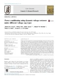 Power conditioning using dynamic voltage restorers under different voltage sag types