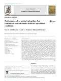 Performance of a vertical subsurface flow constructed wetland under different operational conditions