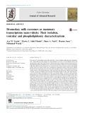 Dromedary milk exosomes as mammary transcriptome nano-vehicle: Their isolation, vesicular and phospholipidomic characterizations