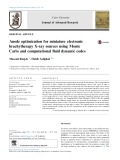 Anode optimization for miniature electronic brachytherapy X-ray sources using Monte Carlo and computational fluid dynamic codes