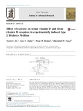 Effect of exercise on serum vitamin D and tissue vitamin D receptors in experimentally induced type 2 Diabetes Mellitus