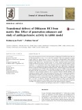 Transdermal delivery of Diltiazem HCl from matrix film: Effect of penetration enhancers and study of antihypertensive activity in rabbit model