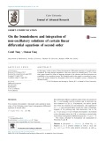 On the boundedness and integration of non-oscillatory solutions of certain linear differential equations of second order