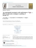 An experimental assessment on the performance of different lubrication techniques in grinding of Inconel 751