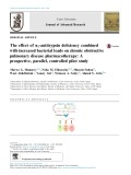 The effect of a1-antitrypsin deficiency combined with increased bacterial loads on chronic obstructive pulmonary disease pharmacotherapy: A prospective, parallel, controlled pilot study