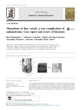 Thrombosis of iliac vessels, a rare complication of endometriosis: Case report and review of literature