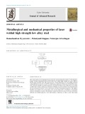 Metallurgical and mechanical properties of laser welded high strength low alloy steel