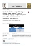 Quantitative structure-activity relationship and molecular docking studies of a series of quinazolinonyl analogues as inhibitors of gamma amino butyric acid aminotransferase