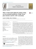 Effect of ultrasound application during setting on the mechanical properties of high viscous glass-ionomers used for ART restorations