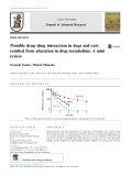 Possible drug–drug interaction in dogs and cats resulted from alteration in drug metabolism: A mini review