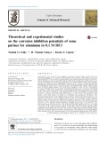Theoretical and experimental studies on the corrosion inhibition potentials of some purines for aluminum in 0.1 M HCl