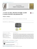 A review on solar cells from Si-single crystals to porous materials and quantum dots