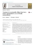 Treatment of an automobile effluent from heavy metals contamination by an eco-friendly montmorillonite
