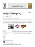 Advances in atomic physics Four decades of contribution of the Cairo University – Atomic Physics Group