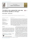 Non-uniform cosine modulated filter banks using meta-heuristic algorithms in CSD space