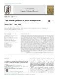 Task based synthesis of serial manipulators