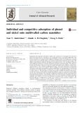 Individual and competitive adsorption of phenol and nickel onto multiwalled carbon nanotubes