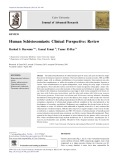 Human Schistosomiasis: Clinical Perspective: Review