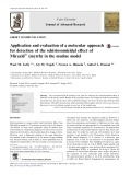 Application and evaluation of a molecular approach for detection of the schistosomicidal effect of Mirazid (myrrh) in the murine model