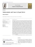 Schistosomiasis and Cancer in Egypt: Review