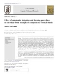 Effect of endodontic irrigation and dressing procedures on the shear bond strength of composite to coronal dentin