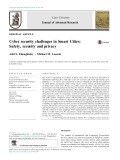 Cyber security challenges in Smart Cities: Safety, security and privacy
