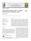 Experimental performance study of a proposed desiccant based air conditioning system