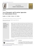 Novel Therapeutic and Prevention Approaches for Schistosomiasis: Review