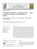 Protein kinase expression as a predictive factor for interferon response in chronic hepatitis C patients