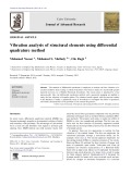 Vibration analysis of structural elements using differential quadrature method