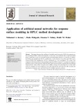 Application of artificial neural networks for response surface modeling in HPLC method development